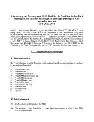 Satzung über die Friedhöfe der Stadt Dormagen