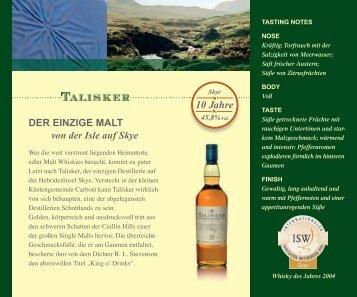 pdf talisker distillery - wk protour