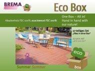 Eco Box Summer mit Auflagen - Brema