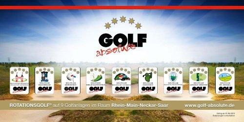 GOLF absolute Infoflyer 2013