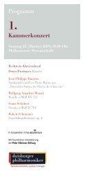 Programm - Die Duisburger Philharmoniker