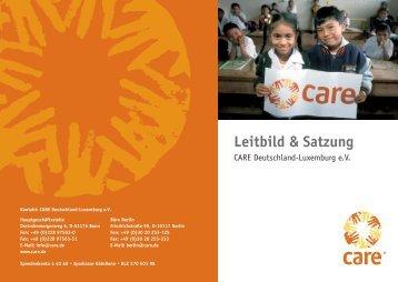 Leitbild & Satzung - CARE Deutschland e.V.