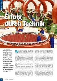Sonne, Wind & Wärme 11/2009: ENERCON – Erfolg durch Technik