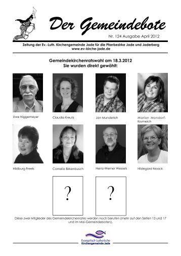 Gemeindebote Nr. 124 April 2012 ohne Werbung.pdf - Evangelisch ...