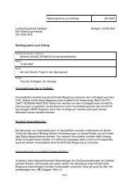 Stellungnahme zum Antrag 261/2007 Landeshauptstadt Stuttgart ...