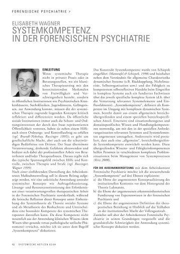 """""""Systemkompetenz"""" in der Forensischen Psychiatrie - Lehranstalt für ..."""