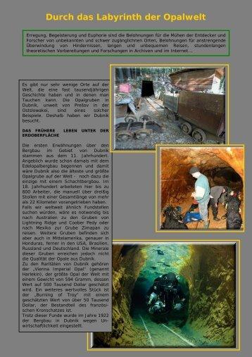 Durch das Labyrinth der Opalwelt
