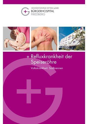 + Refluxkrankheit der Speiseröhre - Gesundheitszentrums Wetterau
