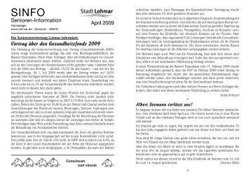 SINFO April 2009_Internet.qxp - Stadt Lohmar