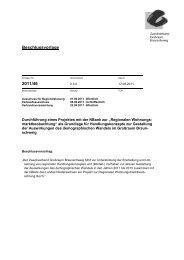 Beschlussvorlage 2011/46 - Zweckverband Grossraum Braunschweig
