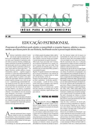 Educação Patrimonial - Polis
