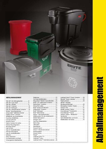 Abfallm anagement - Rubbermaid Commercial Products
