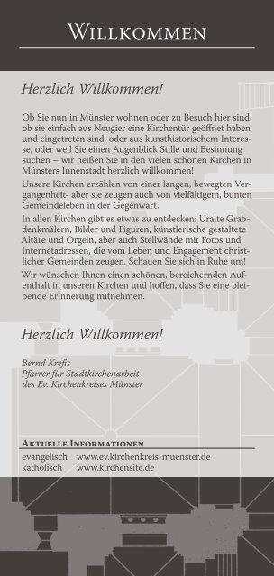 Herzlich Willkommen! - Kirchenfoyer