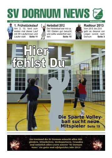 Die Sparte Volley- ball sucht neue Mitspieler Seite 19