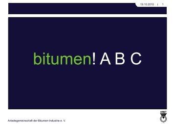 Was ist Bitumen? - ARBIT