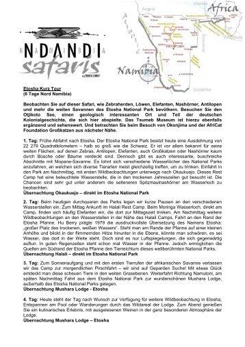 Caprivi Lodge Safari - Ndandi Safaris
