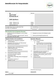 Bestellformular für Fotoprotokolle - AgorA GmbH
