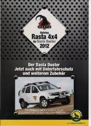 Dacia Duster Katalog 2012 - Genesis Tracks
