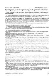 Bekendtgørelse om studie- og ordensregler i de gymnasiale ...