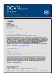 DGVN@ktuell - Deutsche Gesellschaft für die Vereinten Nationen eV