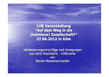 Vortrag Kerstin Riemenschneider