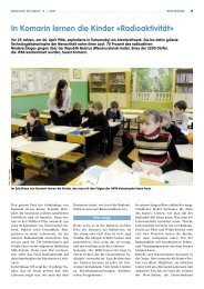 In Komarin lernen die Kinder «Radioaktivität - beim LCH