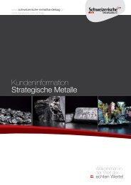 Kundeninformation Strategische Metalle - Schweizerische ...