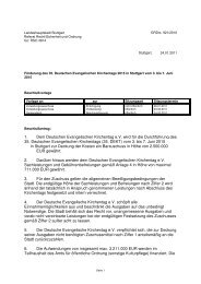 1. Dem Deutschen Evangelischen Kirchentag e.V. wird für ... - Stuttgart