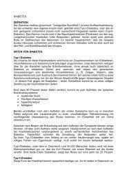 DIABETES DEFINITION Der Diabetes mellitus ... - Diabetes Austria