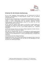 Kriterien für die Schulen-Anerkennung - Gesellschaft für Shiatsu ...