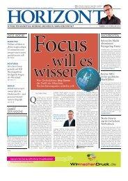 HORIZONT 7/13 Interview Jörg Quoos - FOCUS MediaLine