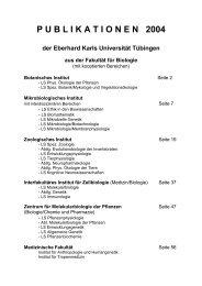 P U B L I K A T I O N E N   2004 - TOBIAS-lib - Universität Tübingen