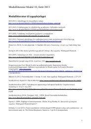 Modullitteratur Modul 10, forår 2013