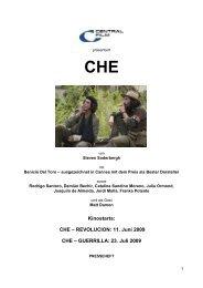 Kinostarts: CHE – REVOLUCION: 11. Juni 2009 CHE ... - Babylon Kino