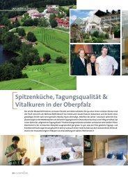 Spitzenküche, Tagungsqualität & Vitalkuren in der Oberpfalz