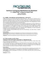 Übersicht aller Seminare am 29. Oktober 2010 - Bundesverband ...