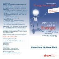 Flyer Energy Award (PDF, 906 KB) - E.ON Westfalen Weser