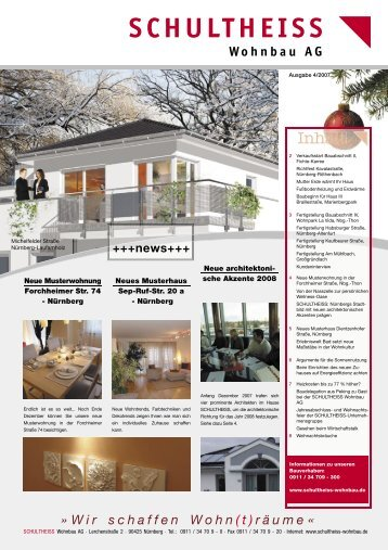 schultheiss wohnbau hauszeitung 4 2007 ag bewertung