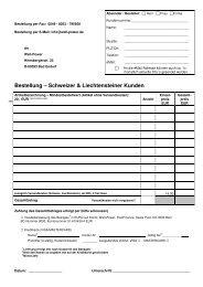 Bestellung – Schweizer & Liechtensteiner Kunden - well-power.de