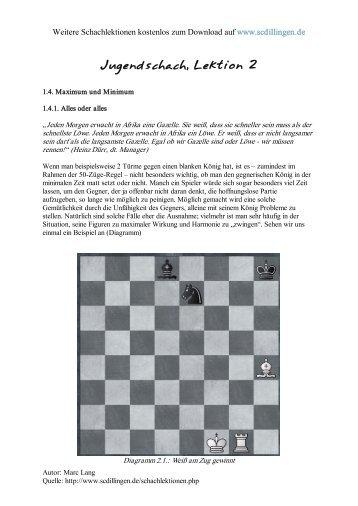 Jugendschach - Kompletter Schachkurs für Jugendliche, Lektion 2