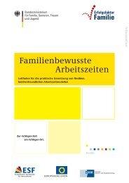 Familienbewusste Arbeitszeiten - Beruf & Familie gGmbH