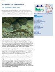 NATURA 2000 - Tier- und Pflanzenarten