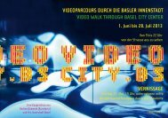Videoparcours durch die Basler innenstadt Video Walk ... - ref17.net