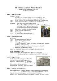 Die jüdische Gemeinde Wiener Neustadt - Erinnern