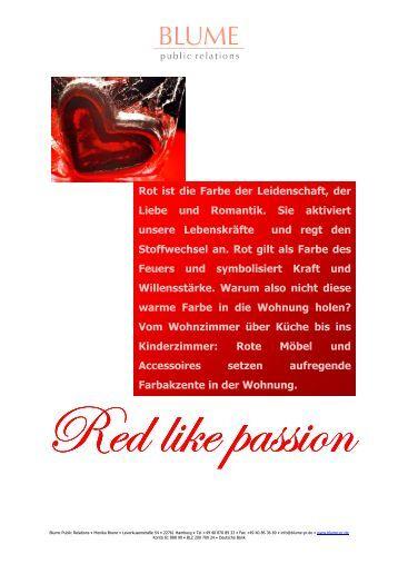die wunderbare welt der farbe darum lieb ich alles was so rot ist. Black Bedroom Furniture Sets. Home Design Ideas