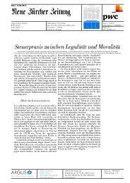 Steuerpraxis zwischen Legalität und Moralität - PwC