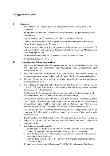 Zwingernamensschutz - Broholmer Deutschland e.V.