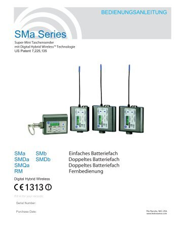 SMa Series - Ambient Recording