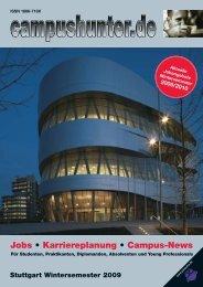 Ausgabe Stuttgart - Wintersemester 2009 - campushunter.de