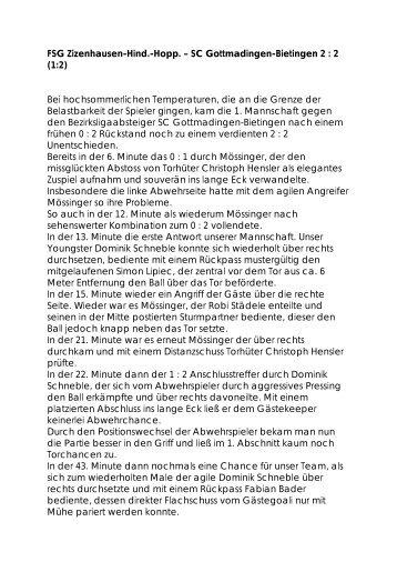 SC Gottmadingen-Bietingen